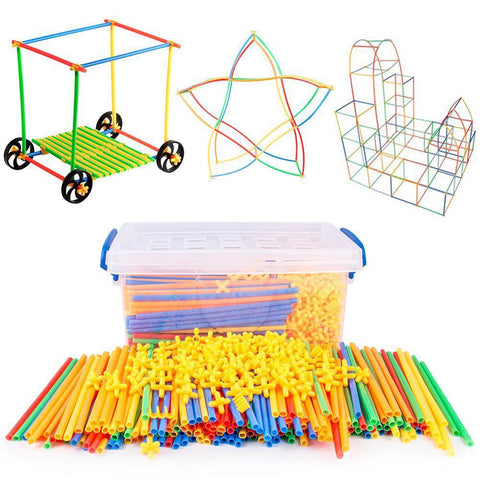 Image of Straw Building Blocks Educational Toys - Puzzle Toys