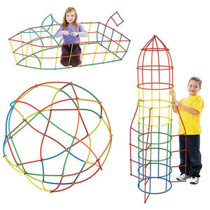 Sculpture with Straw Building Blocks Educational Toys - Puzzle Toys