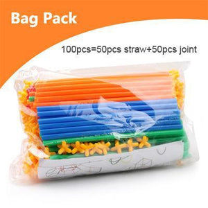 Bag of Straw Building Blocks Educational Toys - Puzzle Toys