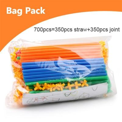 Image of Bag of Straw Building Blocks Educational Toys - Puzzle Toys