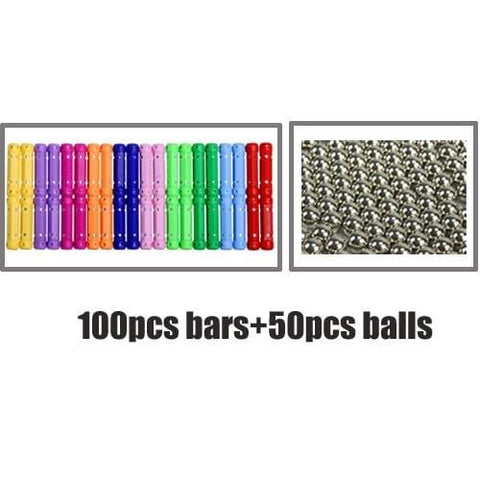 Image of Magnet Toy Bars & Metal Magnetic Balls
