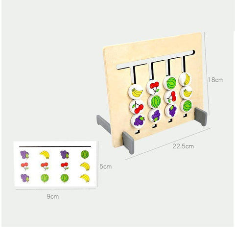 Image of Montessori Toy Colours and Fruits Double Sided Matching Game-Puzzle Toys