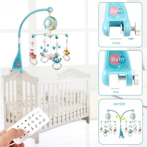 Remote Control Baby Rattles Mobiles Entertainer Toy with Musical Box and Projector