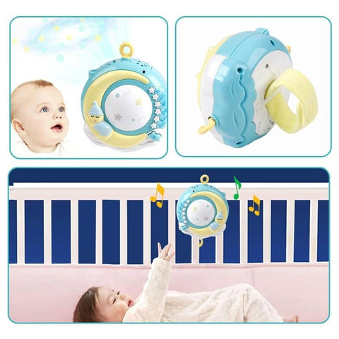 Image of Remote Control Baby Rattles Mobiles Entertainer Toy with Musical Box and Projector