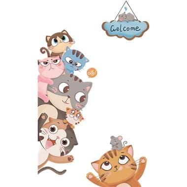 Image of Cartoon Animals Wall Stickers Door Decoration-Puzzle Toys