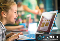 Girl Coding with CIY.club in wollongong _school holiday_workshop_coding is fun