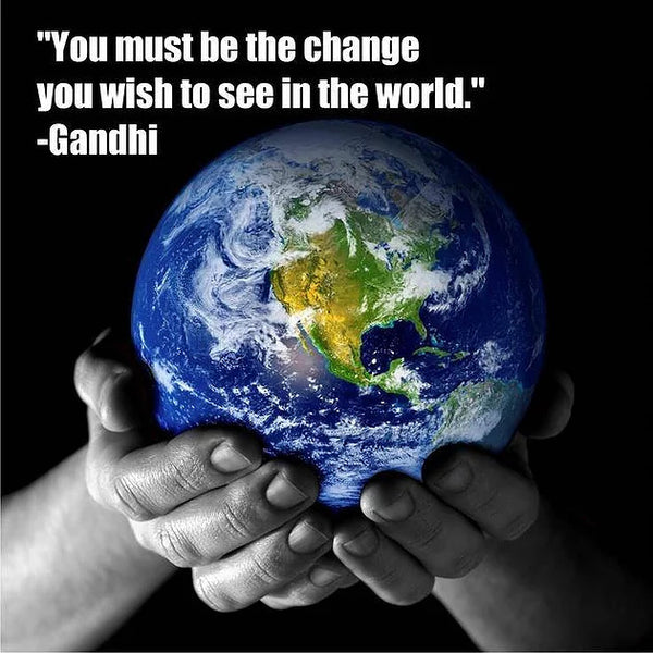 """You must be the change you wish to see in the world"" Gandhi"