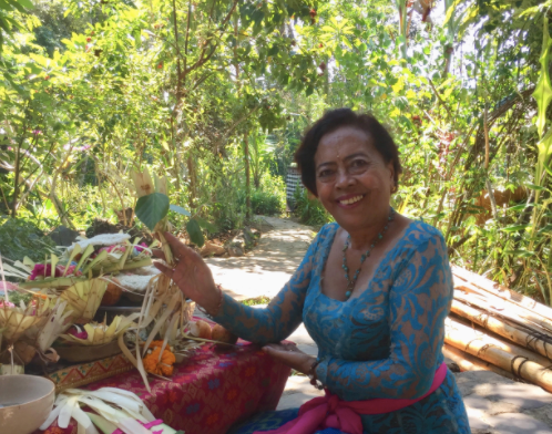 A day with Mama Jasi and her plants at Cantika Spa, Ubud, Bali.