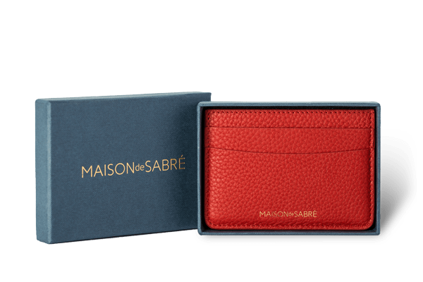 Pomegranate Red Card Holder