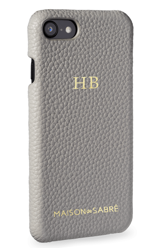 iphone 7/8 phone case- grey- perspective
