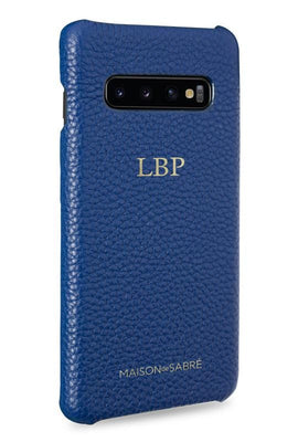 samsung s10 plus phone case- blue- perspective
