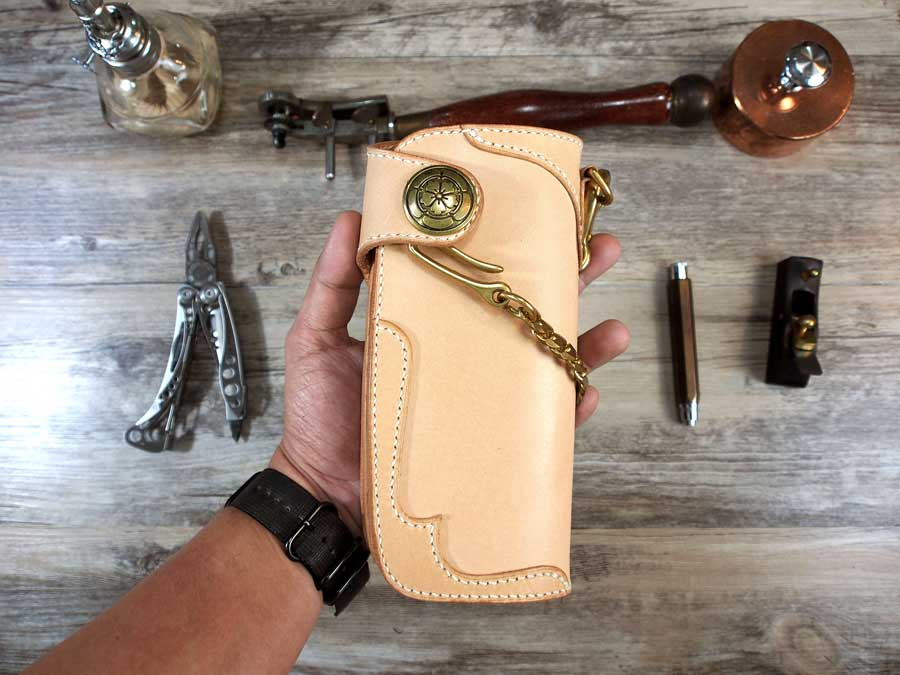 Leather Long Biker Wallet Pattern