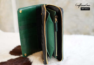 Continental Zipper Wallet Pattern