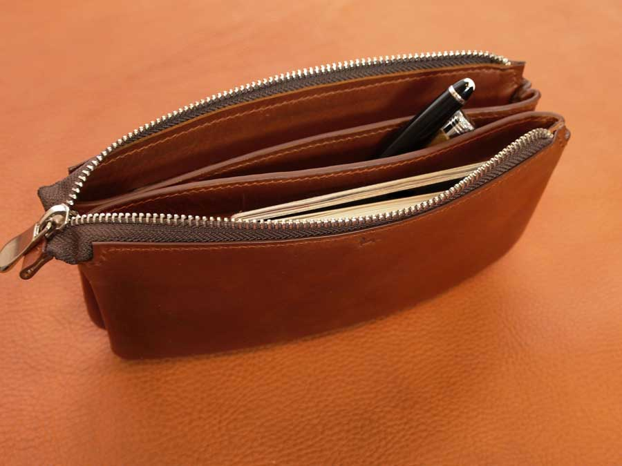 Leather Double Pocket Clutch Pattern