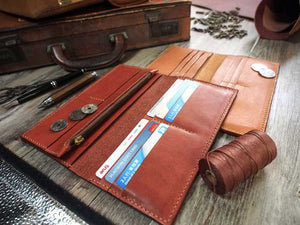 Leather Long Wallet Pattern