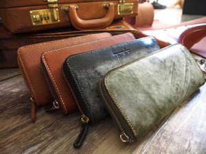 Leather Long Zipper Wallet Pattern