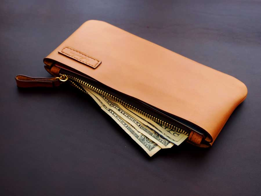 Leather Minimal Wallet Pattern