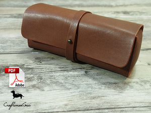 Leather Eye Glasses/ Pen Bag Pattern