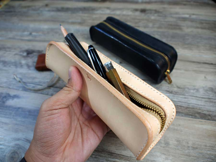 Leather Pen Zipper Bag Pattern