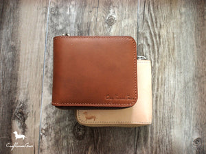 Leather Short Zipper Wallet Pattern