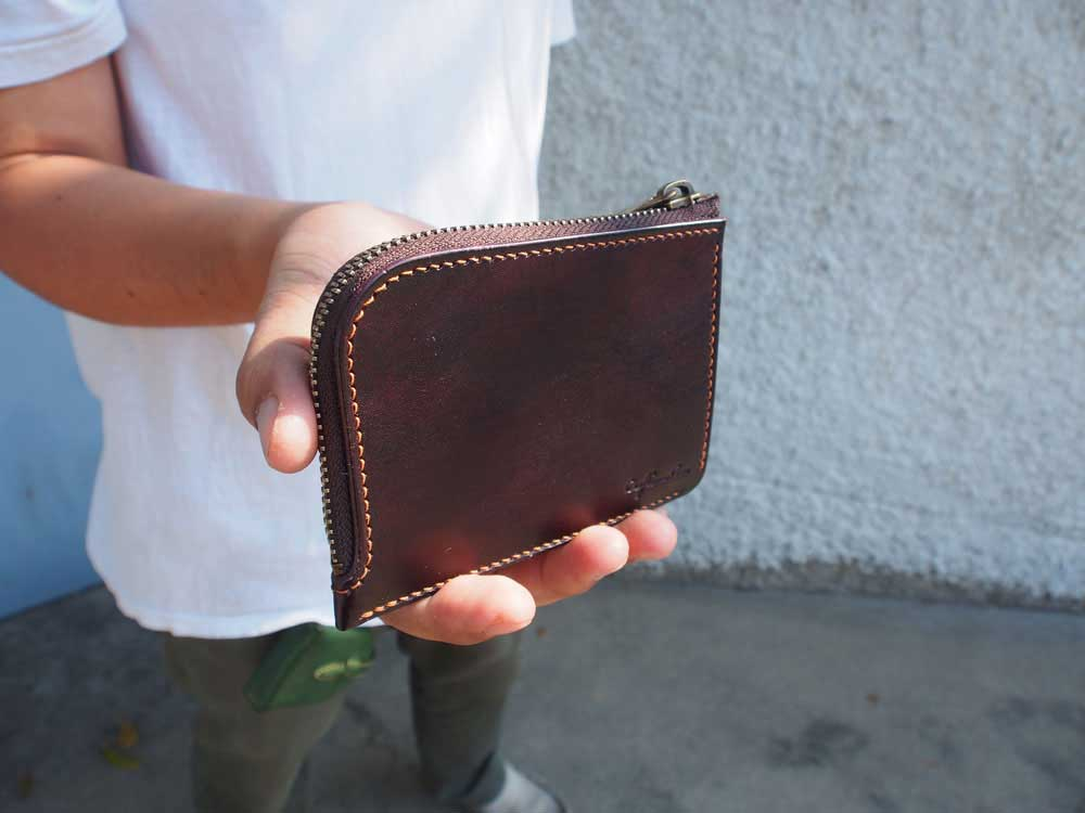 Leather Simple Zipper Wallet Pattern
