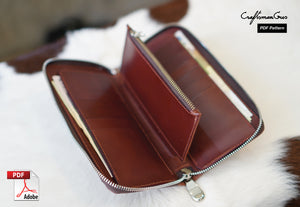 Long Zipper Wallet Pattern