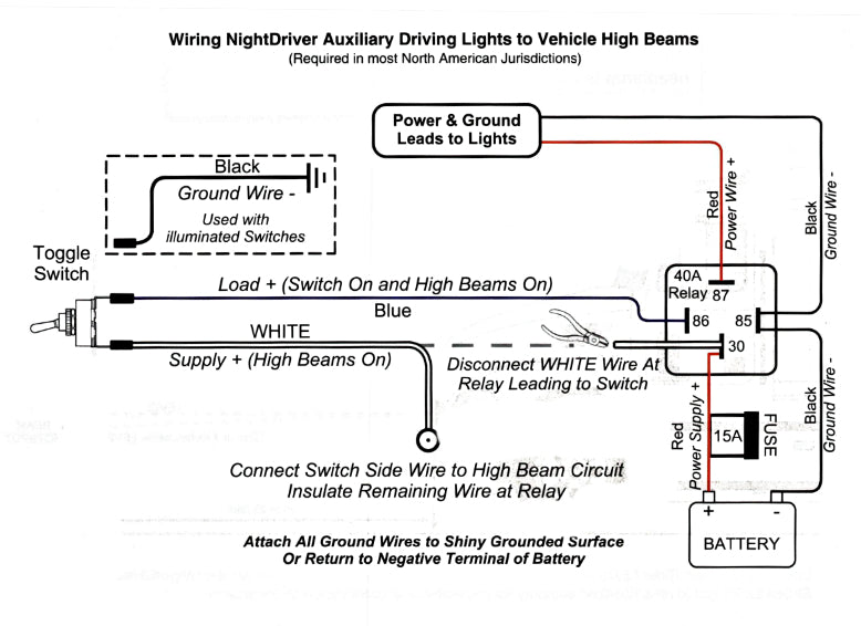 [SCHEMATICS_48ZD]  LED Light Bar Laws in BC – Northern Light Bars | Led Highbeam Light Bar Wiring Diagram |  | Northern Light Bars