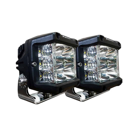 "3.5""x4"" Cube ECE OSRAM Side Shooter LED Driving Light (Double Shot) - N6930EM-2"