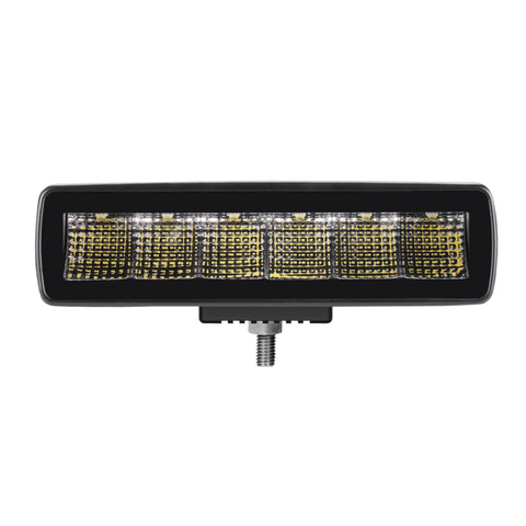 "6"" Jet Black Series Flood Beam Compact Light Bar - NJ2030F"