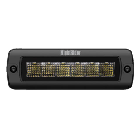"6"" Jet Black Series Flood Beam Compact Light Bar (Flush Mount) - NJ2030IF"