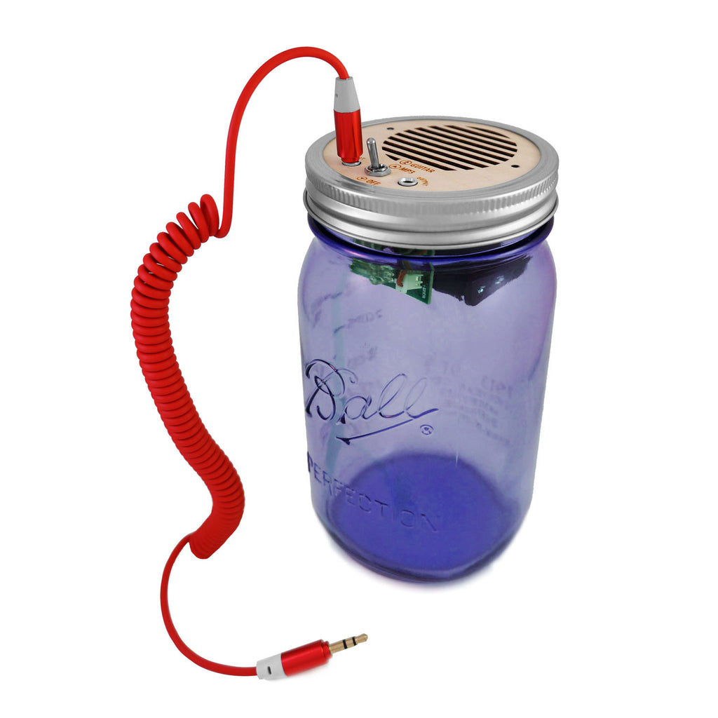 DIY Kit - Portable Speaker & Guitar Amplifier (Red Cord & Purple Jar 32 oz)
