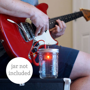 DIY Kit - Portable Speaker & Guitar Amplifier (Red Cord, use a jar from home)