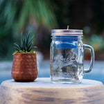 Bluetooth Mason Jar Speaker with Clear Handle Jar (24 oz)