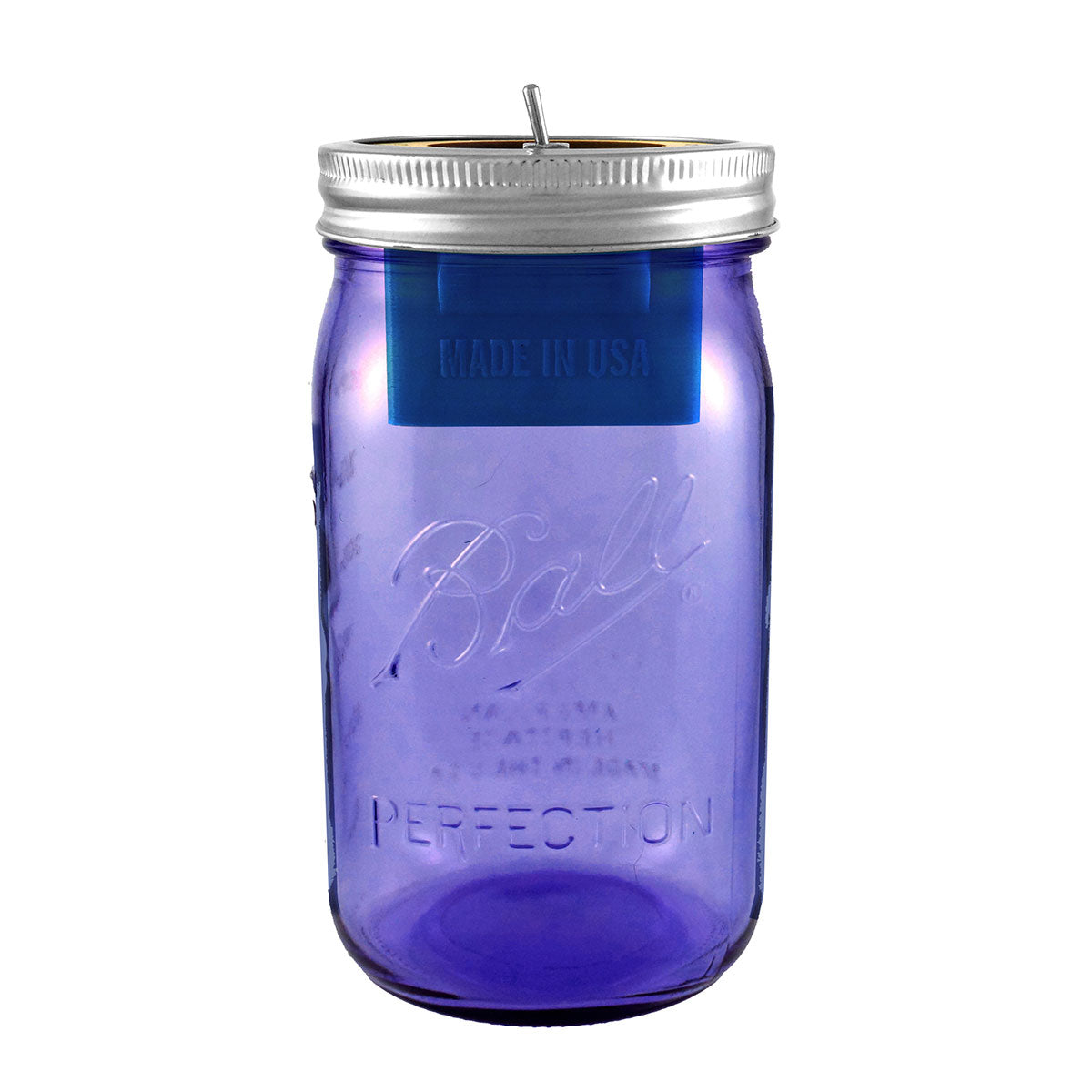 Bluetooth Mason Jar Speaker with Purple Jar (32 oz)