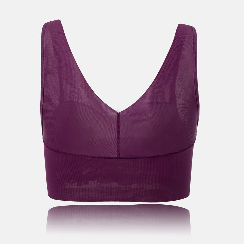 popclue Plus Size Full Cup Wireless Gather Yoga Sports Bras