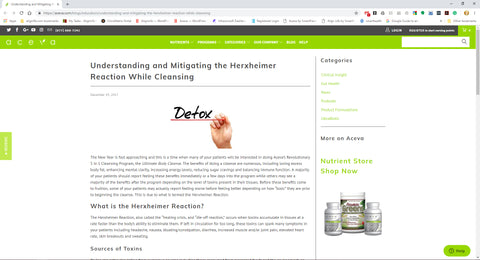 Understanding and Mitigating the Herxheimer Reaction While Cleansing