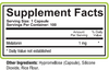 Aceva Melatonin Supplement Fact Panel
