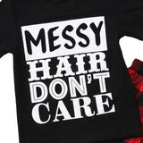Messy Hair Don't Care T-Shirt Close Up