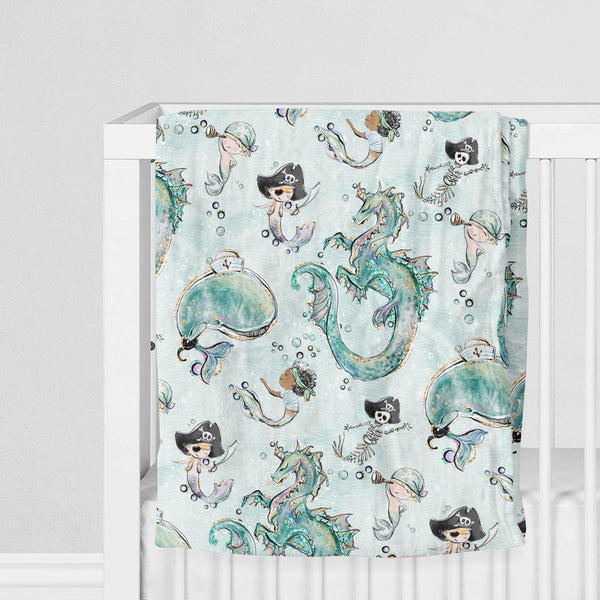 Bamboo Muslin Swaddle Blanket With Merboy Pattern