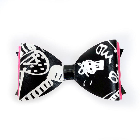 Graffiti punk retro hair bow