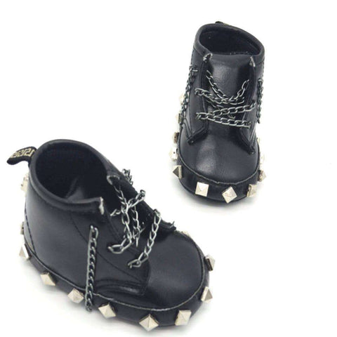 Baby Toddler Punk rock boots black