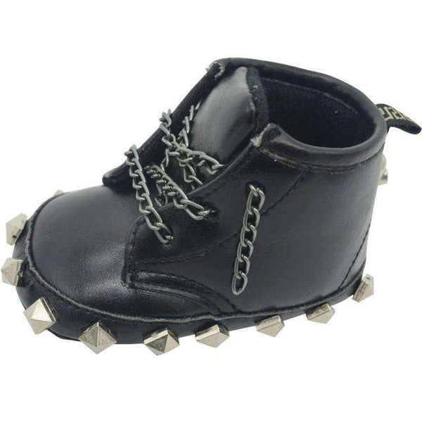 Baby Toddler Punk rock boots black detail