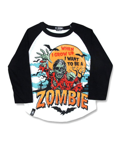 Zombie Raglan long sleeve T-shirt - Six Bunnies