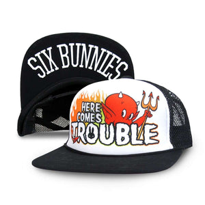 Six Bunnies Here Comes Trouble Cap