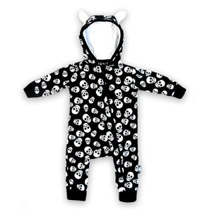Six Bunnies Polka Skulls Playsuit