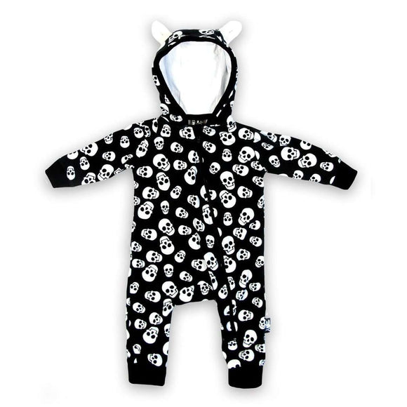 Baby romper playsuit black - Six Bunnies