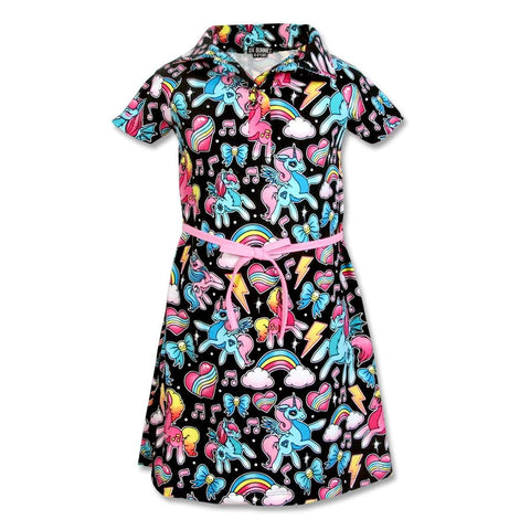 Girls dress - six bunnies
