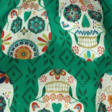 Teeny Rockets Green skull skater skirt detail