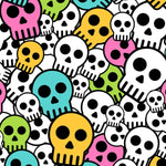 100% Muslin Cotton Swaddle Blanket with Skulls pattern detail