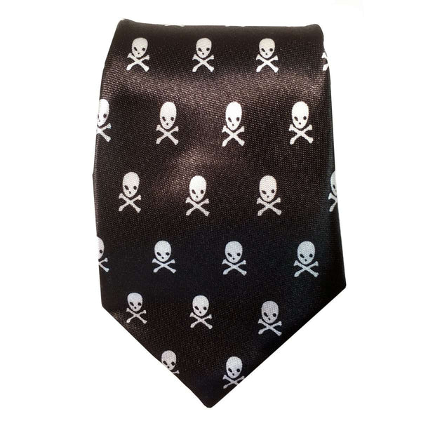 Kids tie black with skulls